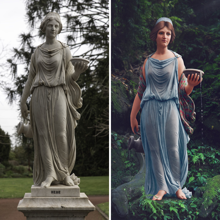 I Colorize 19th Century Statues To Make Them Come To Life