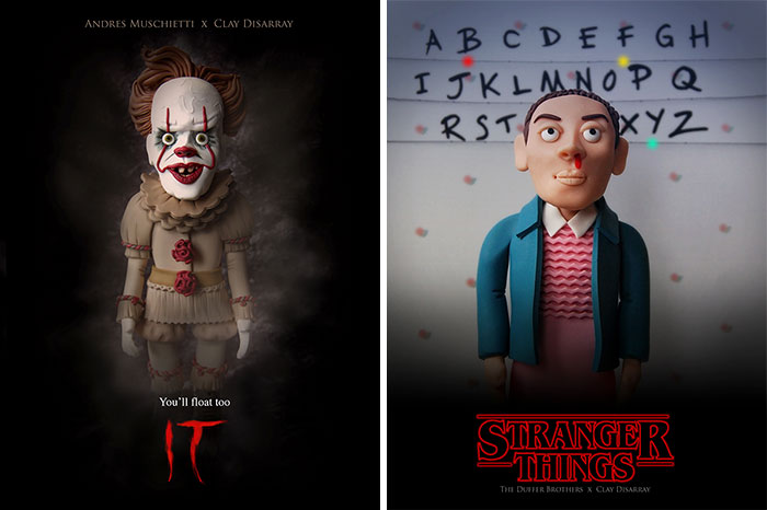 14 Horror Movie Posters That I Reimagined Using Polymer Clay