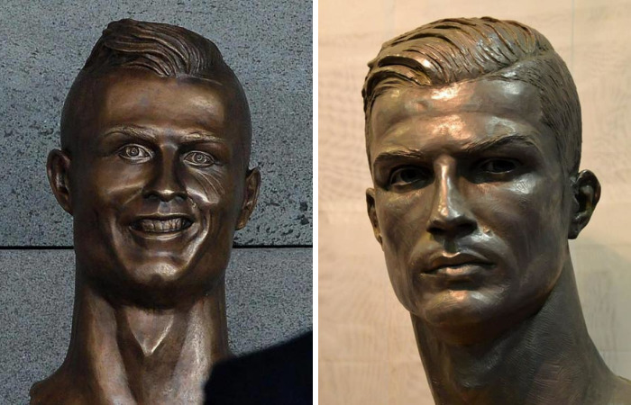 Christiano Ronaldo Can Breathe With Relief Cause He Finally Got A Bust That Looks Like Him