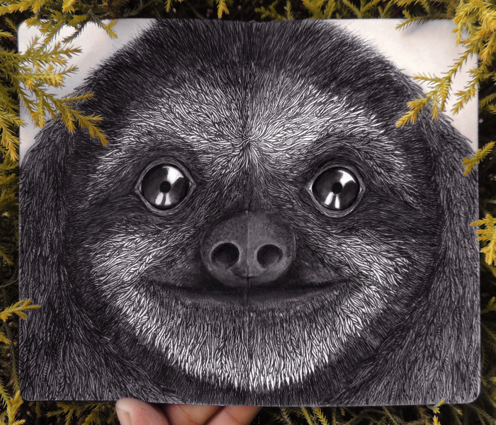 I Combine Endangered Animals With Leaves To Show That They Belong In Nature