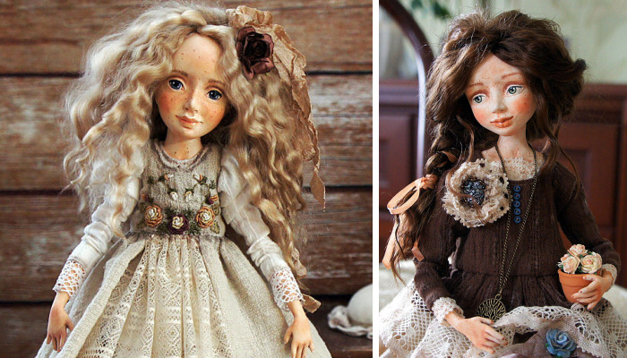 I Create One-Of-A-Kind Art Dolls Entirely From Scratch