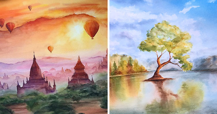 I Challenged Myself To Create A Calendar Of Watercolor Paintings In Less Than Two Months
