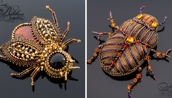Russian Artist Creates Gorgeous Beaded Insects Completely By Hand