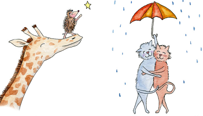 I Drew Animal Illustrations That Display The Little Ways We Show Love