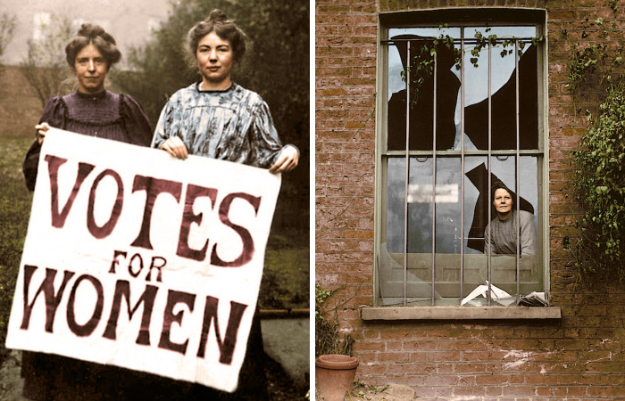 I've Colourised Photos Of Women Fighting For Equal Rights From 100 Years Ago