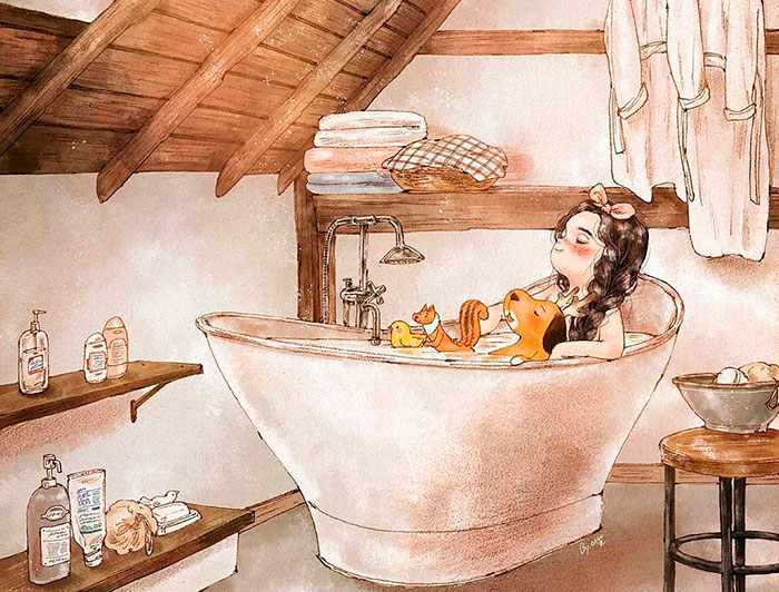 Happiness In Living Alone Revealed In 65 Illustrations By Korean Artist
