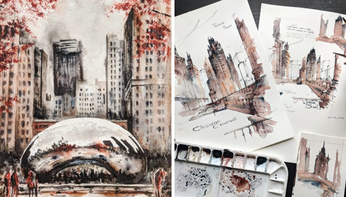My Beloved City Of Chicago In Watercolor Paintings
