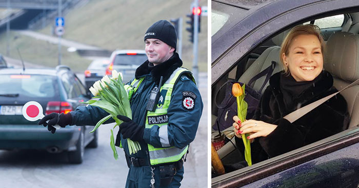Here's What Lithuanian Police Officers Did On International Women's Day, And Women's Reactions Say It All