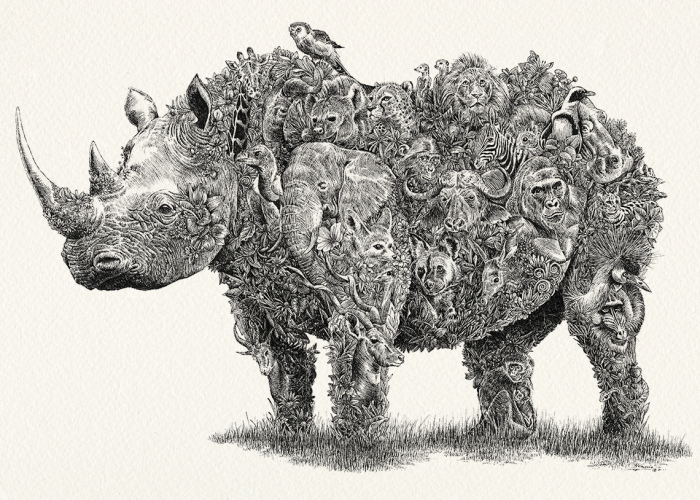 I Drew These Intricate Animals To Support Wildlife Conservation