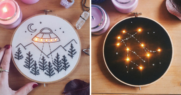 """I """"Light Up"""" My Embroidery Works Inspired By Night And Stars"""