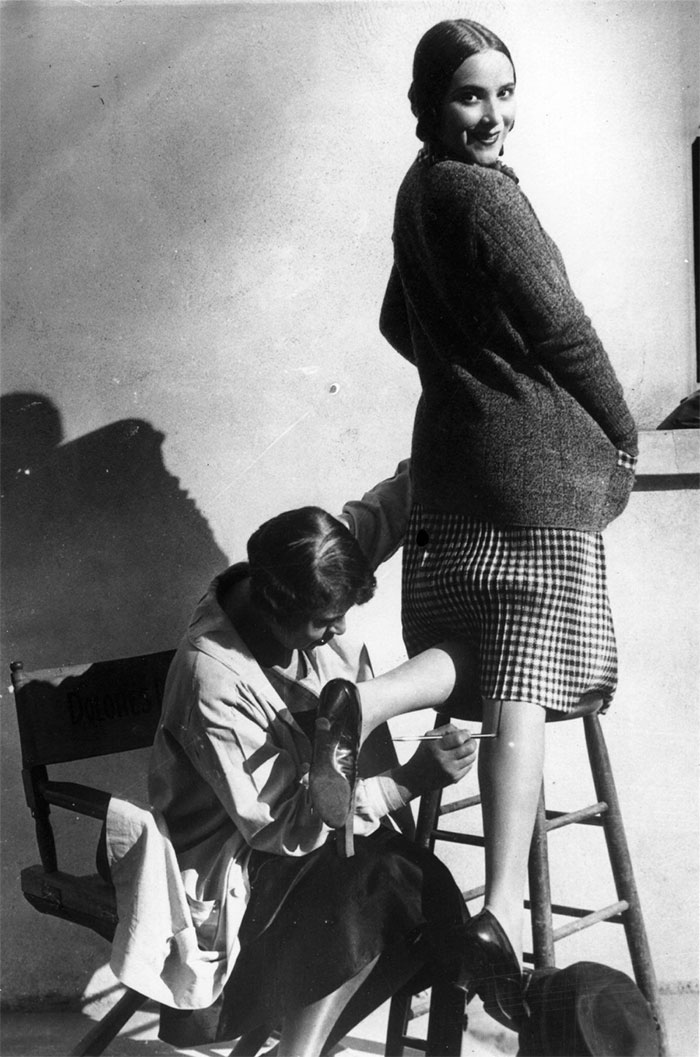 A Woman Having A Seam Painted Onto Her Leg, To Make It Appear That She Is Wearing Stockings, 1926