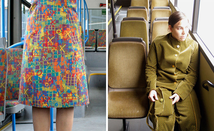 People Probably Weren't Expecting To See This Case Of Perfect Urban Camouflage When They Took Public Transport