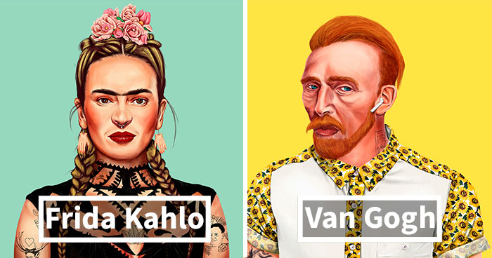 I Reimagined The World's Most Iconic Artists As Today's Hipsters