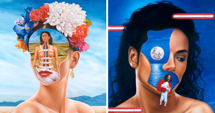 I Show The Sadness Behind The World's Most Famous Faces With These Surrealistic Oil Paintings