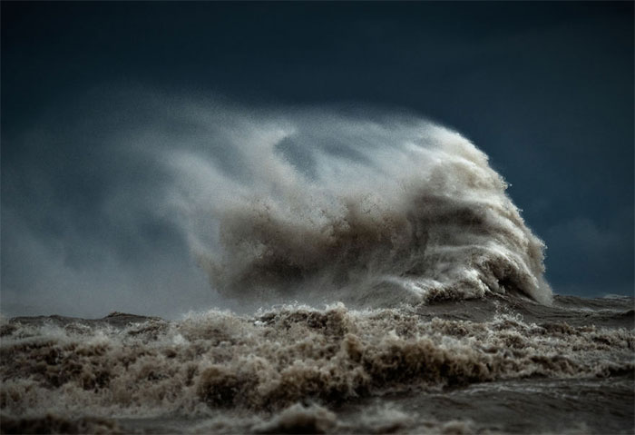 I Photographed These Waves During The Gale-Force Winds Until My Fingers Went Numb