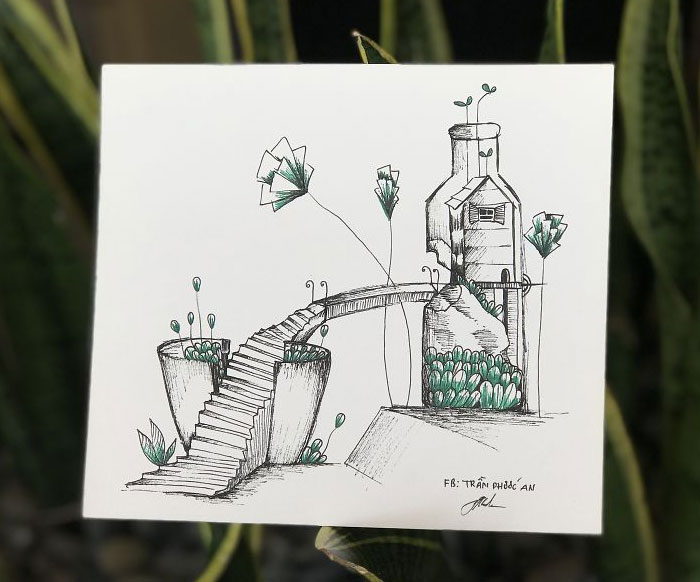 I Drew These 9 Pictures Inspired By Plants And Broken Things At Home