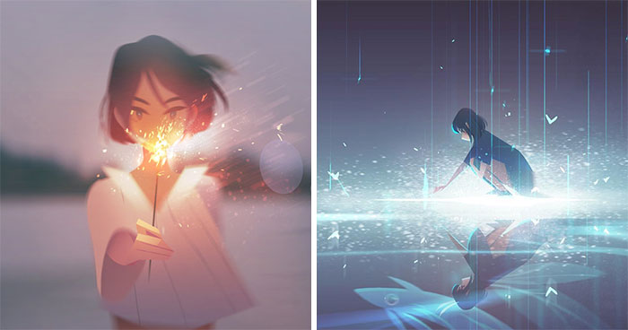 Artist Creates Illustrations That Turn Loneliness Into Magic