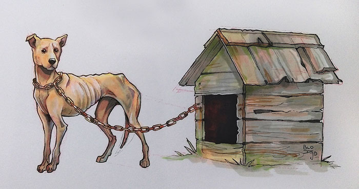 31 Symbolic Drawings On Animal Suffering That I Made For Inktober 2018