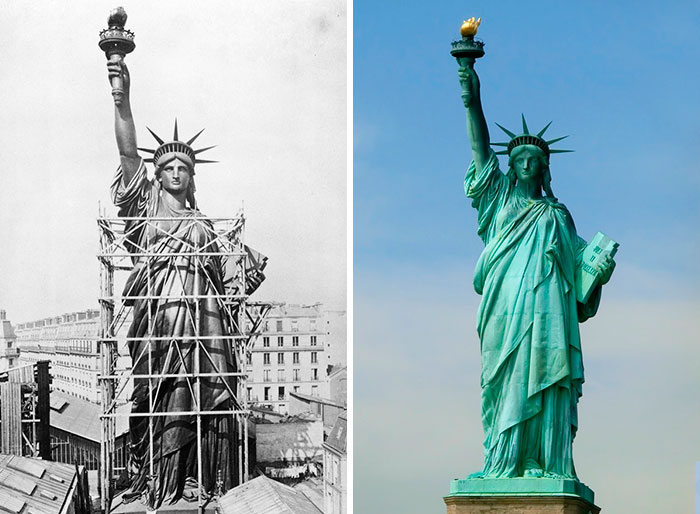 Here's How 20 World Famous Buildings And Statues Looked During Their Construction