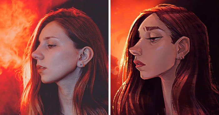 I Asked 16 Artists To Draw My Portrait Photos In Their Style