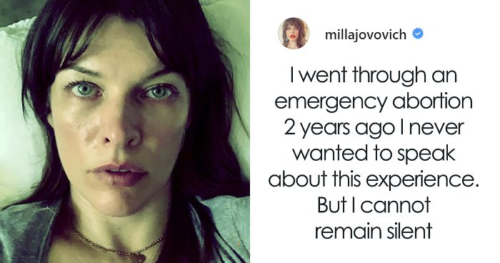 Milla Jovovich Shares Her 'Horrific' Abortion Story, Urges People To Resist New Laws In Georgia And Alabama