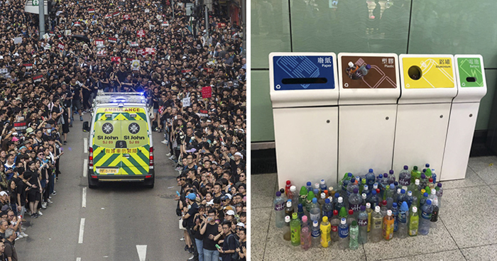 14 Pics From The Massive Protests In Hong Kong That Illustrate The Discipline And Respect Of The People