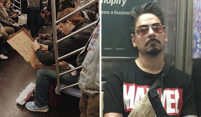 45 Funny And Strange Things Spotted On the Subway