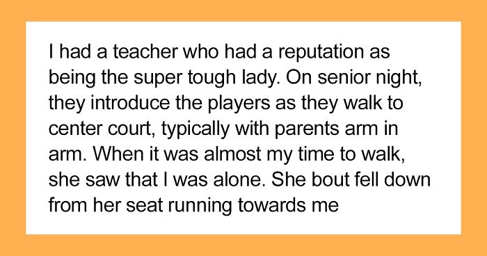 Guy Shares Wholesome Stories About His 'Mean' High School Teacher And 23k People Love It