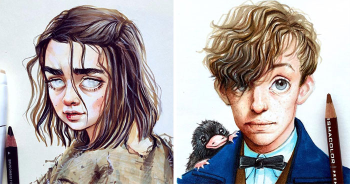 Russian Artist Draws Adorable Cartoon Versions Of Famous People (30 New Pics)