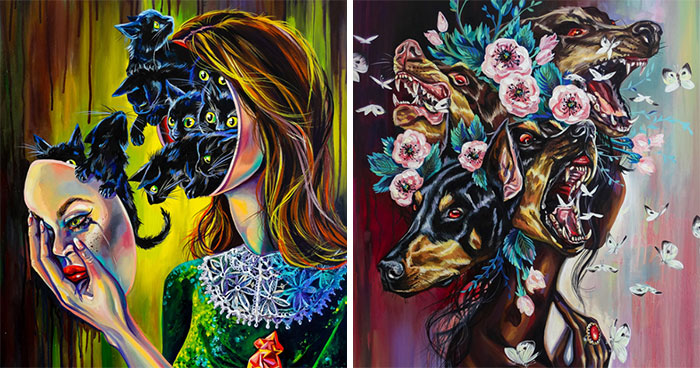 40 Creepy Women Portraits That I Painted In The Last Two Years