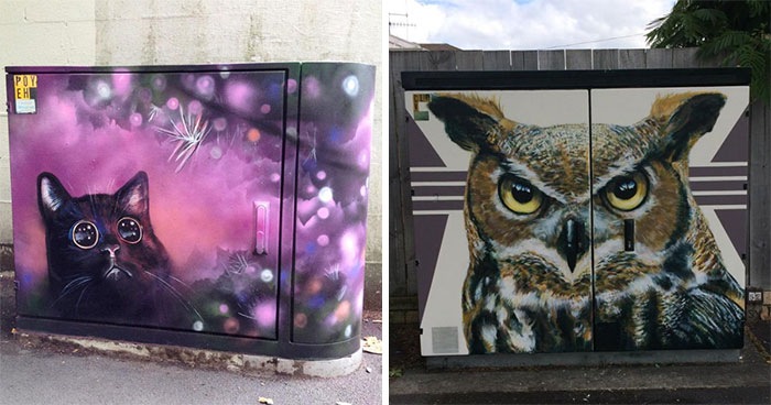 New Zealand Artists Adorn Utility Boxes With Amazing Works Of Art (80 Pics)