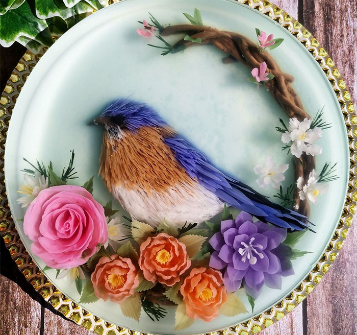 I Hand-Craft Seaweed Jelly Cakes With Intricate 3D Designs Of Birds, Flowers, Koi Ponds And Characters (68 New Pics)