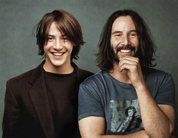 30 Celebrities Photoshopped Side-By-Side With Their Younger Selves By Ard Gelinck