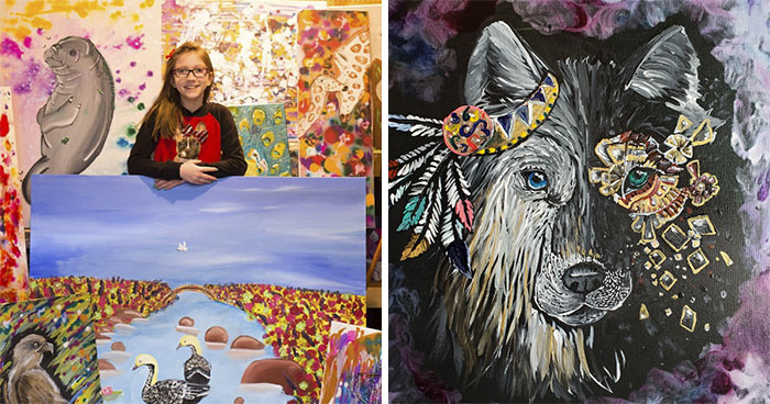 When I Was 8 Years Old, I Decided To Help Endangered Animals With My Art; Five Years Later, I Have Created Over 300 Animal Paintings