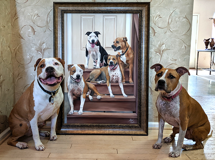Pictures Of My 16 Custom Pet Paintings Side-By-Side With Their Models (New Pics)