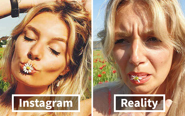 Girl Exposes The Truth Behind Those 'Perfect' Instagram Photos With 30 Side-By-Side Pics
