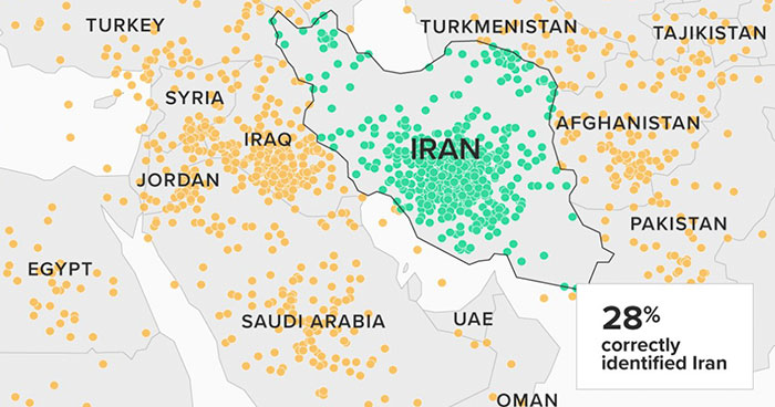 Americans Were Asked To Find Iran On The Map, And Some Of Them Pointed At USA