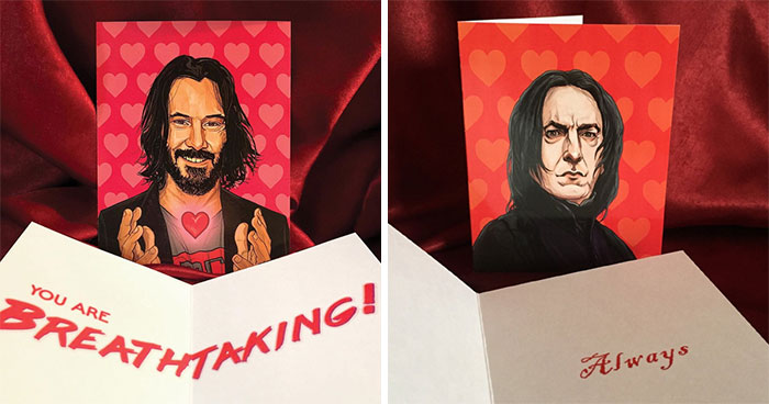 21 Geeky Valentine's Day Cards With Pop Culture Icons Expressing Love In Their Own Way