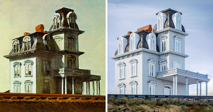 8 Buildings From Famous Paintings Come To Life In These Real-Life Renderings By A Real Estate Agency