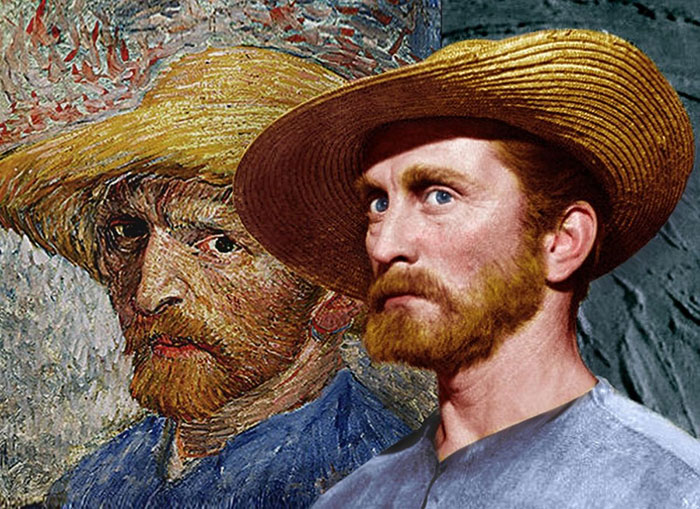 """Here Are Kirk Douglas' Impressive Publicity Shots As Vincent van Gogh in """"Lust For Life"""" (1956)"""
