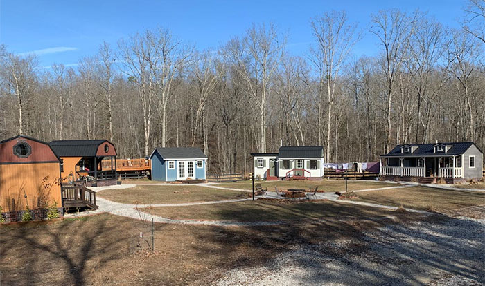 Family Builds A Private Tiny House Village Where Their Teen Kids Have A House Each, Shows What's Inside