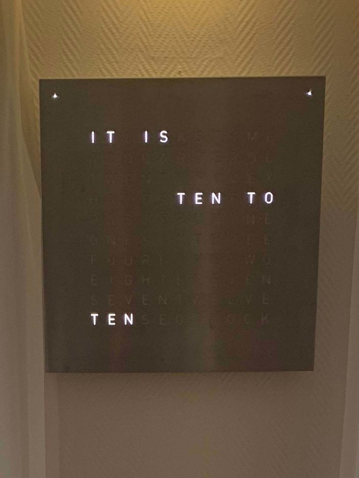This Clock With Words Only
