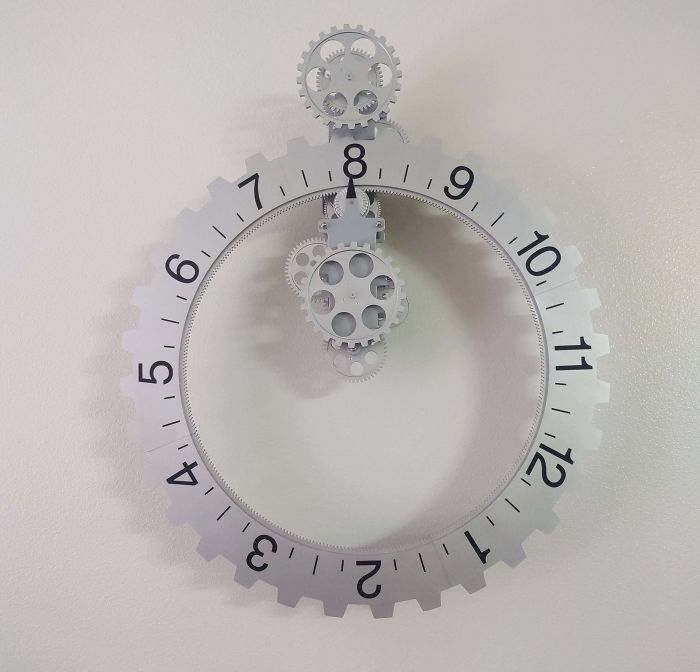 I Have A Clock Where The Numbers Rotate Rather Than The Hands