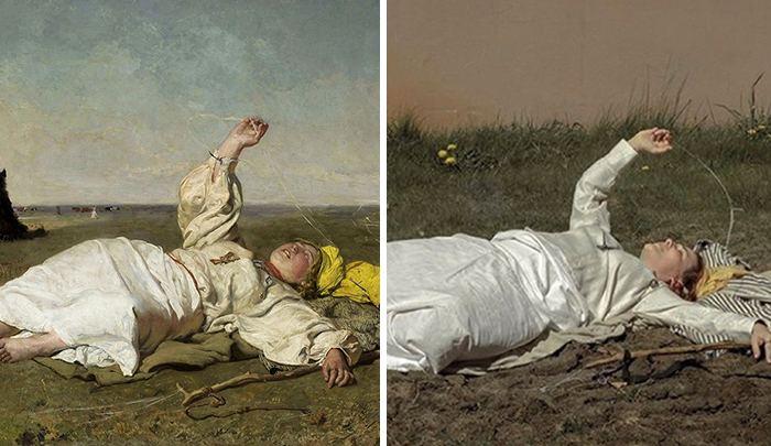 National Museum Of Warsaw Held A Challenge Of Recreating Art Pieces, And People Have Delivered (32 Pics)