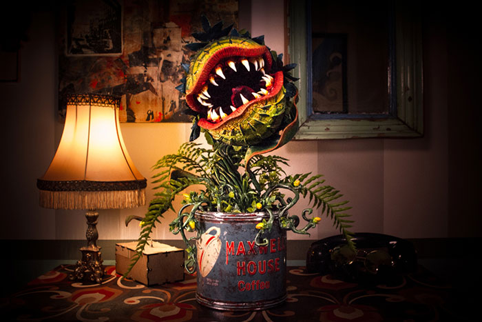 "I Handcrafted Audrey 2 From ""Little Shop Of Horrors"" From Materials I Had At Home During The Quarantine"