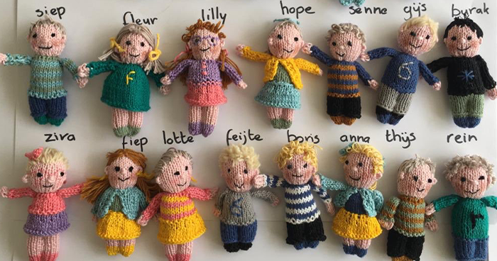 This Teacher Missed Her Students So Much, She Knitted Tiny Dolls Of All 23 Kids In Her Class