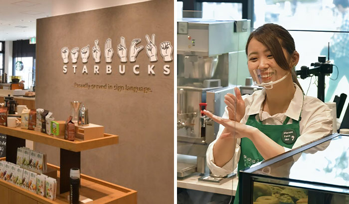 Starbucks Opens A Store In Japan Where All Of The Staff Is Fluent In Sign Language