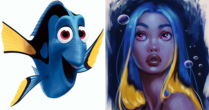 This Artist Turns Disney Animals Into Humans Using Her Own Unique Style