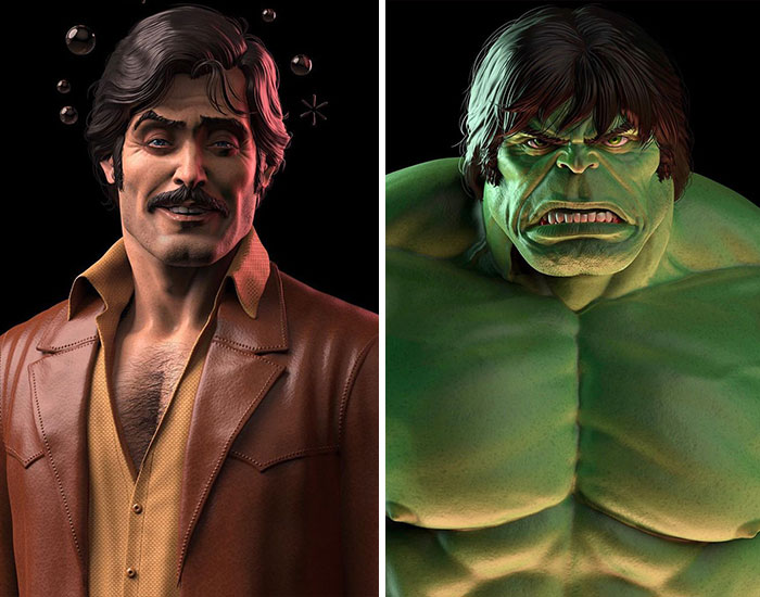 This Artist Creates '70s-Style Action Figurines Inspired By Marvel Superheroes
