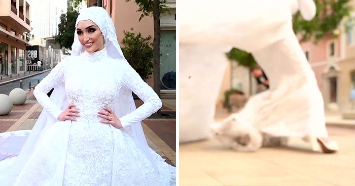 Photographer Captures The Exact Moment Of The Beirut Explosion In This Wedding Photoshoot